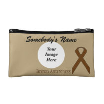 Brown Standard Ribbon Template Makeup Bag