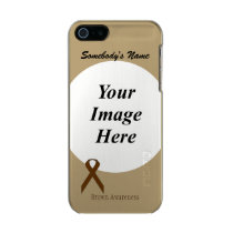 Brown Standard Ribbon Template Metallic iPhone SE/5/5s Case