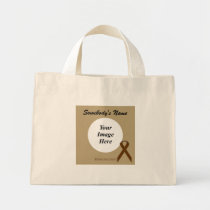 Brown Standard Ribbon Template Mini Tote Bag