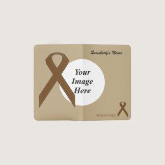 Brown Standard Ribbon Template Pocket Moleskine Notebook