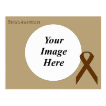 Brown Standard Ribbon Template Postcard