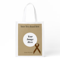 Brown Standard Ribbon Template Reusable Grocery Bag