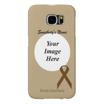 Brown Standard Ribbon Template Samsung Galaxy S6 Case