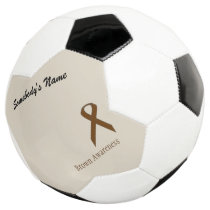 Brown Standard Ribbon Template Soccer Ball
