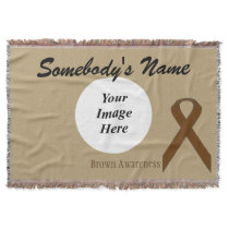 Brown Standard Ribbon Template Throw