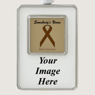 Brown Standard Ribbon Template (V-I) Ornament