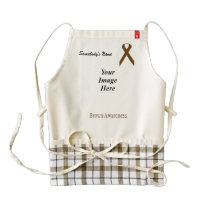 Brown Standard Ribbon Template Zazzle HEART Apron