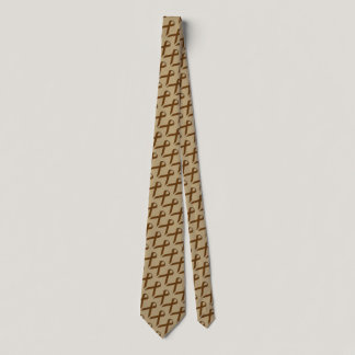 Brown Standard Ribbon Tie