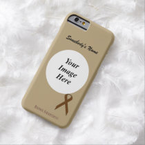 Brown Standard Ribbon Tmpl by Kenneth Yoncich Barely There iPhone 6 Case