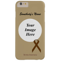 Brown Standard Ribbon Tmpl by Kenneth Yoncich Barely There iPhone 6 Plus Case
