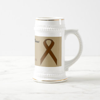 Brown Standard Ribbon Tmpl by Kenneth Yoncich Beer Stein