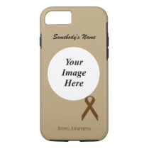 Brown Standard Ribbon Tmpl by Kenneth Yoncich iPhone 8/7 Case