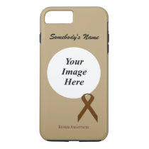 Brown Standard Ribbon Tmpl by Kenneth Yoncich iPhone 8 Plus/7 Plus Case