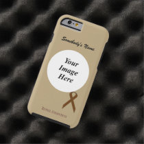 Brown Standard Ribbon Tmpl by Kenneth Yoncich Tough iPhone 6 Case
