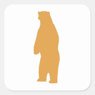 Brown Standing Bear Sticker