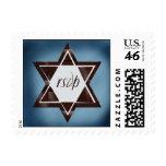 Brown Star of David RSVP stamp