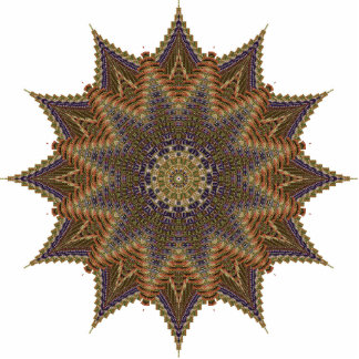 Brown Star Pin Cutout