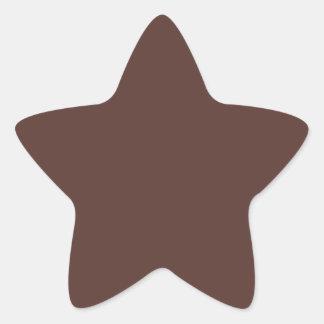 Brown Star Star Stickers