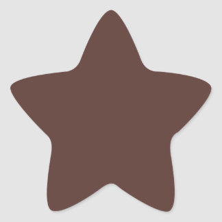 Brown Star Star Stickers