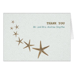 Brown Starfish Blank Folded Note Card