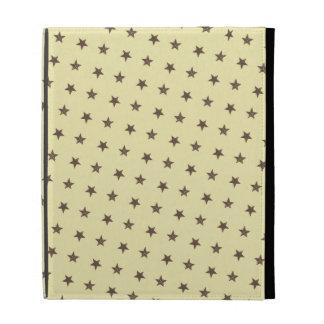 Brown Stars Pattern iPad Case