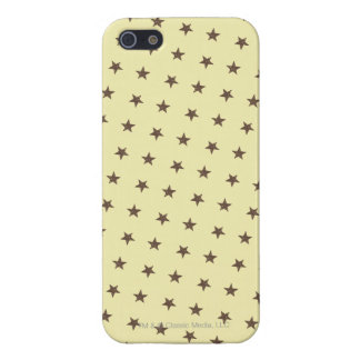 Brown Stars Pattern Case For iPhone SE/5/5s