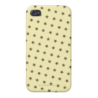 Brown Stars Pattern Cover For iPhone 4