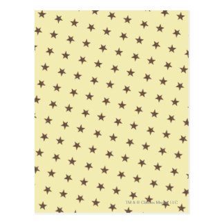 Brown Stars Pattern Postcard