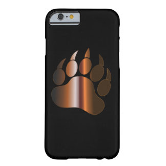 BROWN STEEL BEAR PAW BARELY THERE iPhone 6 CASE
