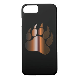 BROWN STEEL BEAR PAW iPhone 7 CASE