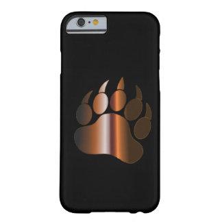 BROWN STEEL BEAR PAW ON BLACK - iPhone 6 case