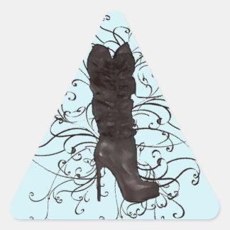 Brown Stiletto Boot Triangle Sticker