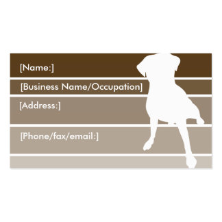Brown Stipes Dog Silhouette Business Cards