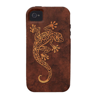 Brown Stone Climbing Gecko Case-Mate iPhone 4 Cover