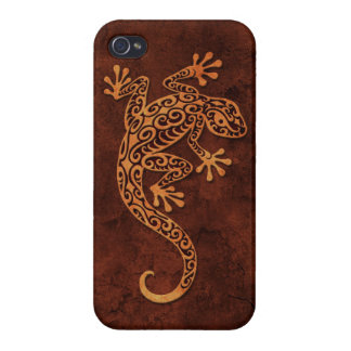 Brown Stone Climbing Gecko iPhone 4/4S Cover