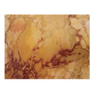 Brown Stone Marble Pattern Postcard