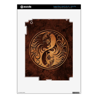 Brown Stone Yin Yang Kittens Decals For iPad 3