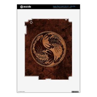 Brown Stone Yin Yang Scorpions iPad 3 Decals