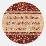 Brown Stones Textured Address Stickers