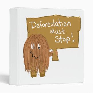 Brown stop deforestation 3 ring binders