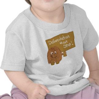 Brown stop deforestation t-shirts