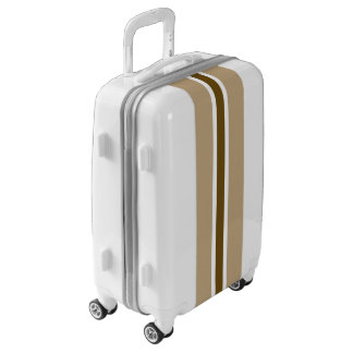 Brown Stripe Luggage Suitcase