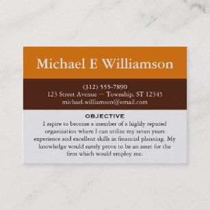 resume business cards zazzle