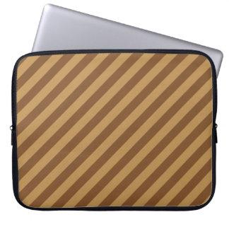 Brown Stripe Pattern. Computer Sleeves