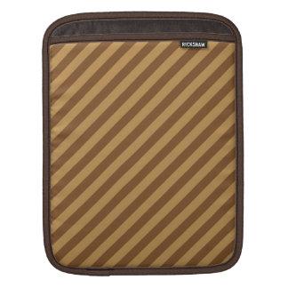 Brown Stripe Pattern. Sleeves For iPads