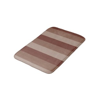 Brown Striped Bath Mat