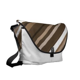 Brown Striped Messenger Bag Geometric Striped