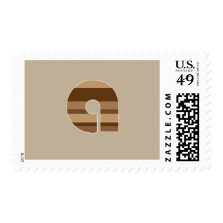 Brown Striped Monogram - Letter A Stamp