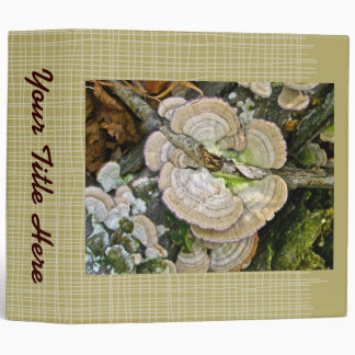 Brown Striped Shelf Fungi Items 3 Ring Binder