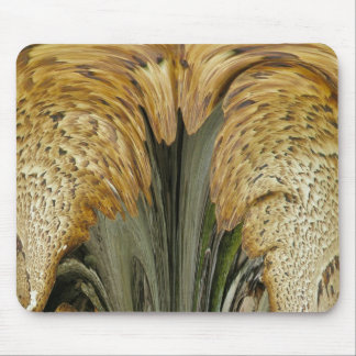 Brown Striped Shelf Fungus Abstract Mousepad